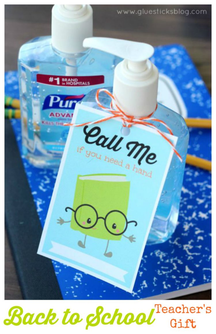 hand sanitizer with printable tag