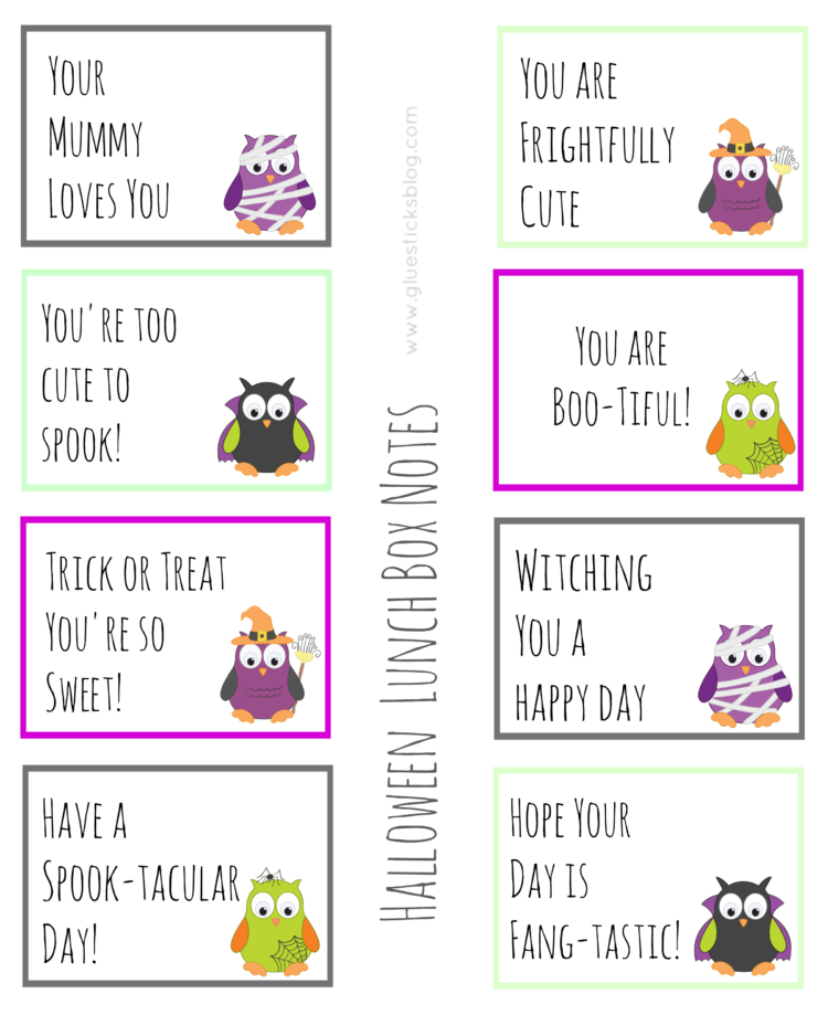 Add a smile to your child's face with these goofy printable lunch box notes that are perfectly sized to slip into their lunch box for a fun surprise!