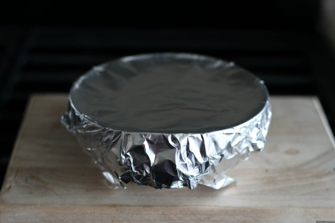bowl covered in foil