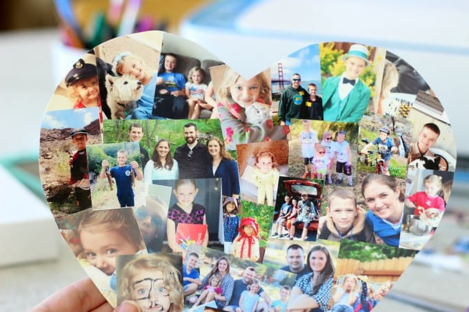 A photo collage canvas  is a great way to document the highlights of the year! Make one to display in your home and another to give to a grandparent. It makes a great gift and is simple to make. You can even print the photos directly from your phone or iPad. I'll show you how!