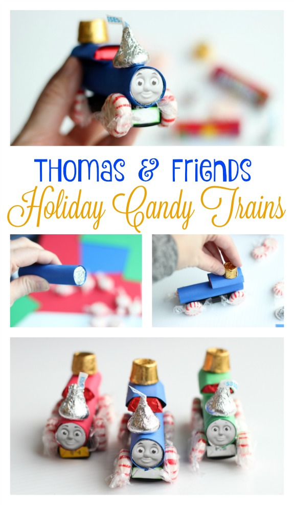 Candy trains are so fun to make during the holidays! These ones are extra special because they look just like Thomas and Friends!