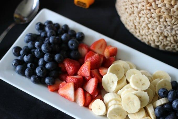 fresh fruit for cereal bar