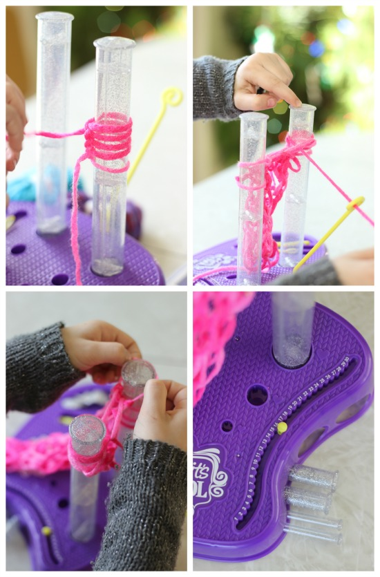 Holiday Gifts that Girls Can Make: finger knitting