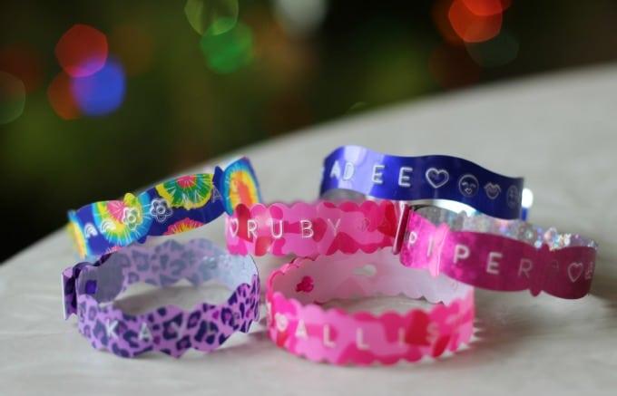 homemade text bracelets