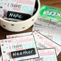 i chews you gum valentine cards