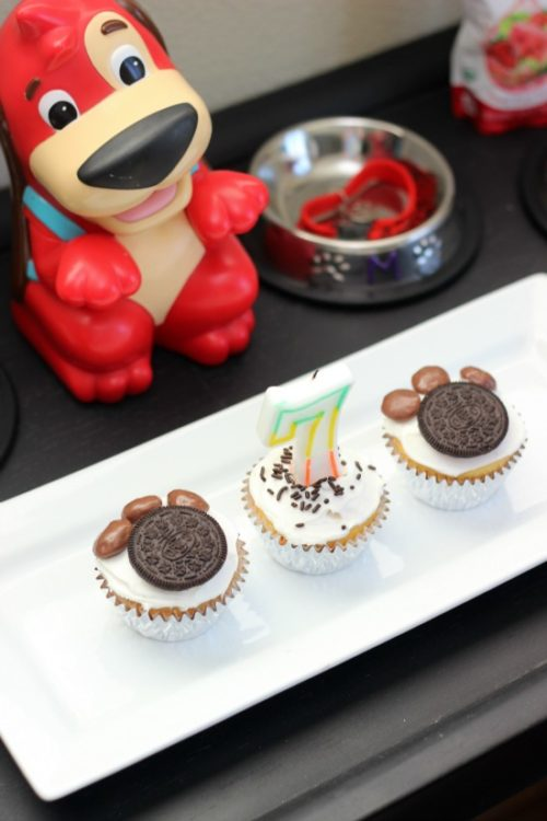 puppy paw cupcakes and red rover dog game