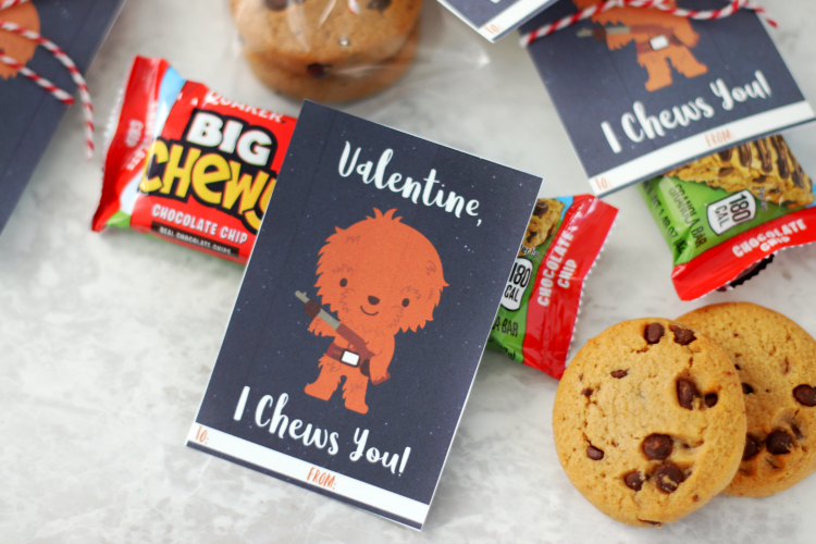 chewy granola valentines cut out next to cookies