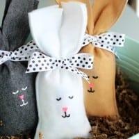felt bunny candy bag