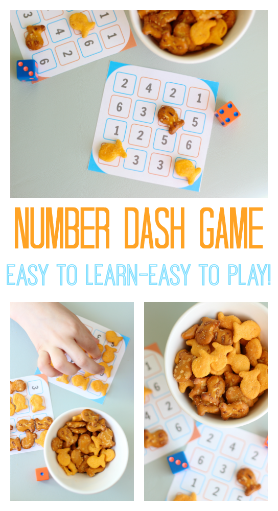 Looking for a quick and easy printable game for kids to play? Number dash takes 10 seconds to learn and is SO fun! Perfect for a rainy day.