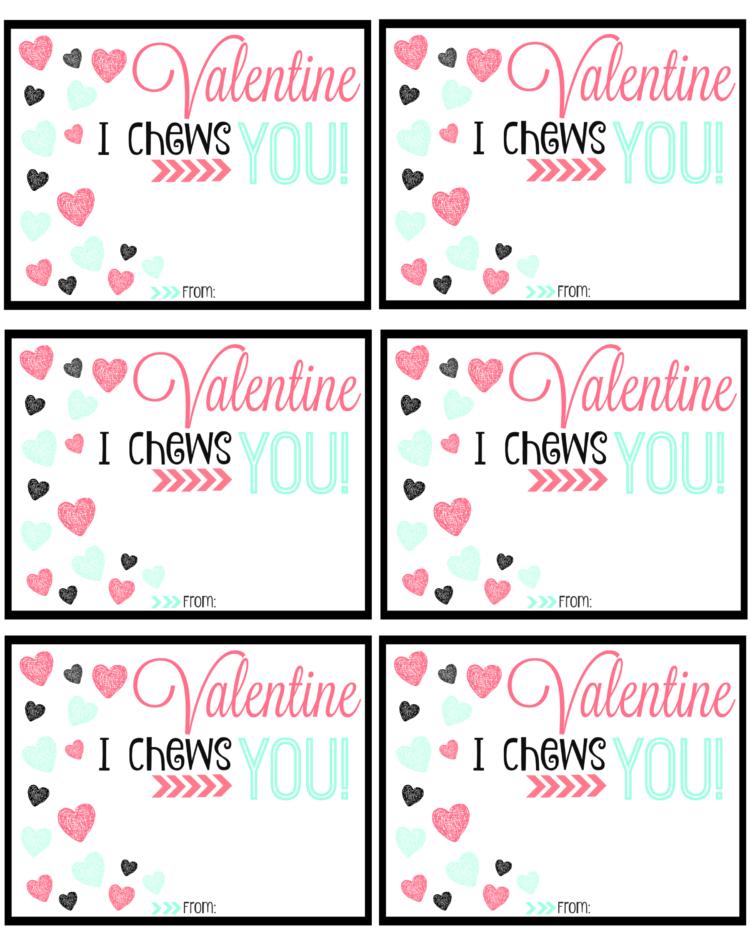 gum valentine printable