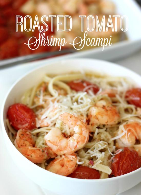 Roasted Tomato Shrimp Scampi