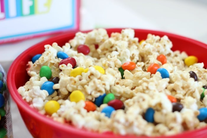 game night marshmallow popcorn