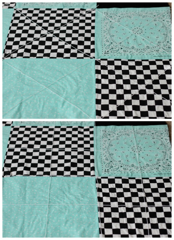 two ways to quilt bandanna picnic blanket