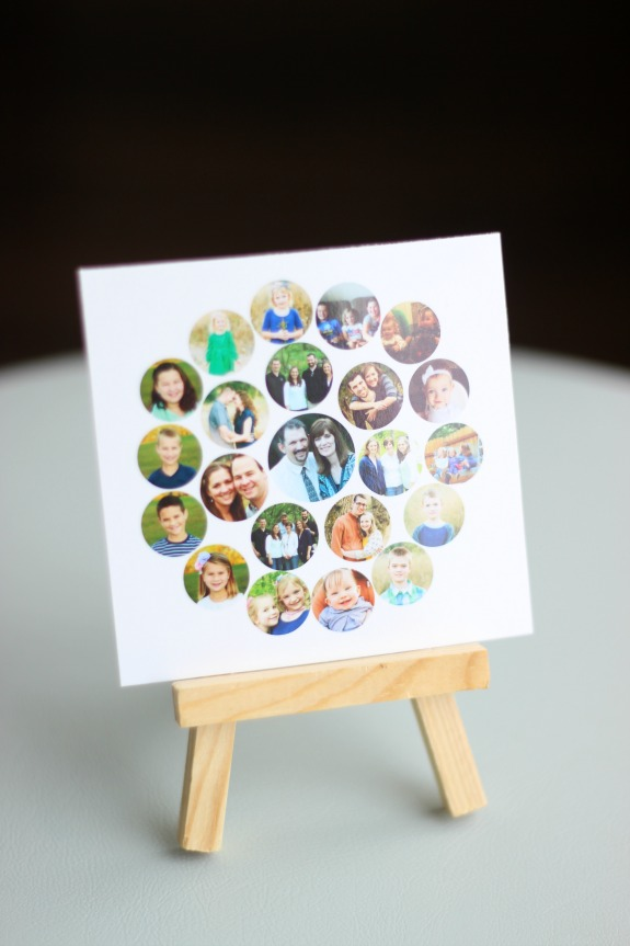 Make a family tree photo collage to give to mom this Mother's Day! A personal gift that is easy to make!