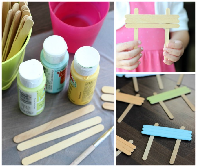 Make your own garden markers using popsicle sticks! A fun and easy gardening project for kids. What are you planting this year?