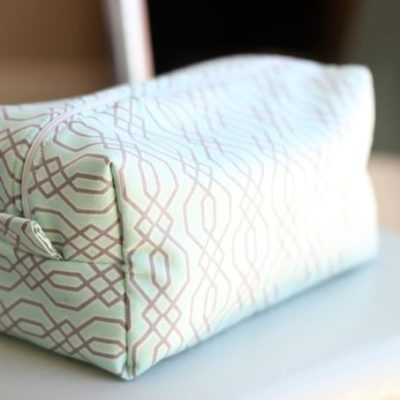 travel zipper pouch on chair