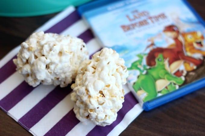 Dinosaur Egg Popcorn Balls