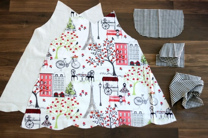 fabric for kids apron sewing tutorial