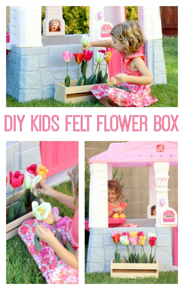 Make a felt flower box for kids for imaginative play! Kids can plant, pick, and re-plant their beautiful flowers over and over again!