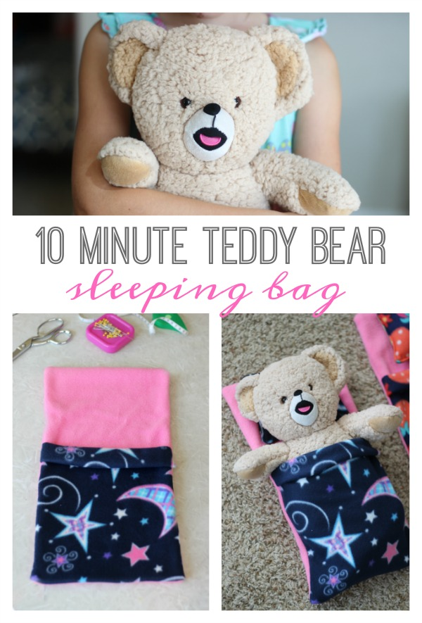DIY Teddy Bear Sleeping Bag