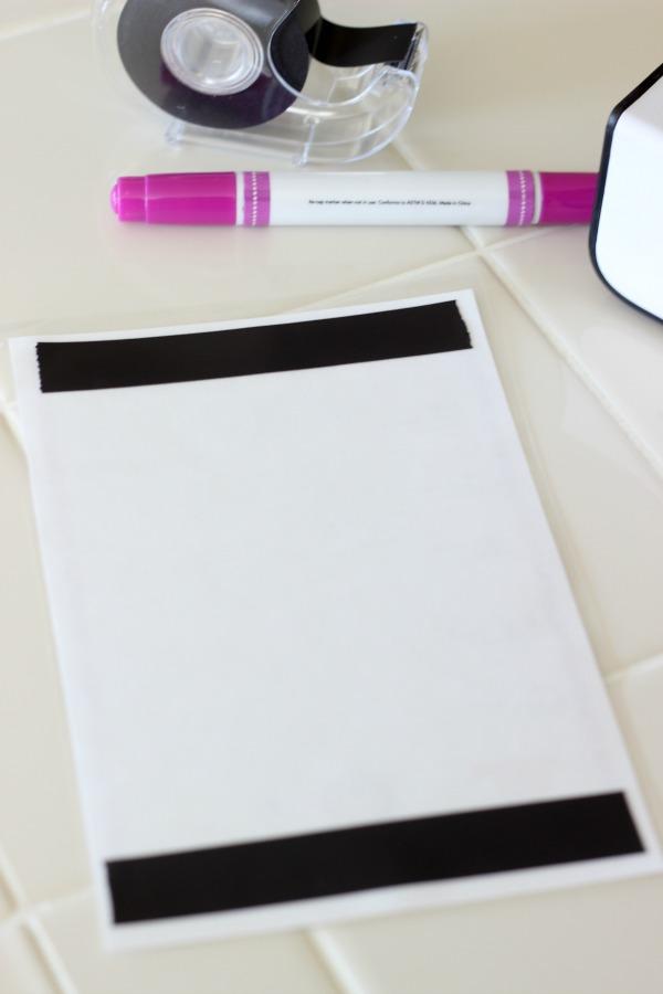 Dry Erase Morning Tasks Chart