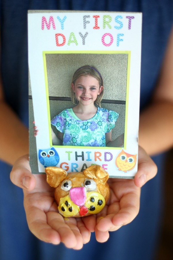 Pottery Gift ideas Kids Can Make: photo holder