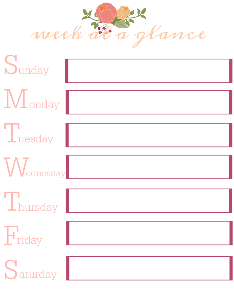 Free Planner Pages to Keep Your Organized This Year!