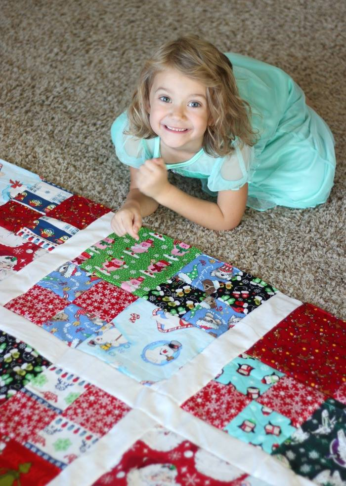 Make a Christmas quilt to pull out each year! Let the kids choose their favorite holiday fabrics to include and create a treasured family heirloom.
