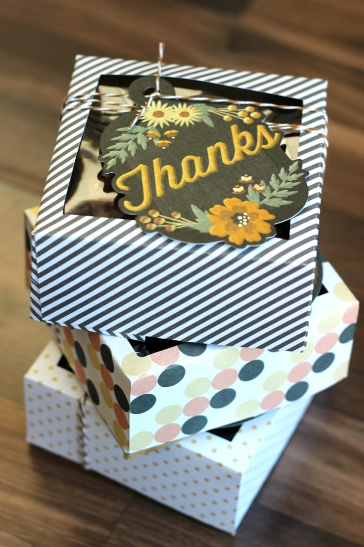 Cardstock Treat Box Tutorial {free template}