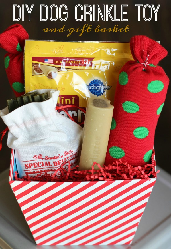 DIY Dog Crinkle Toy and Gift Basket