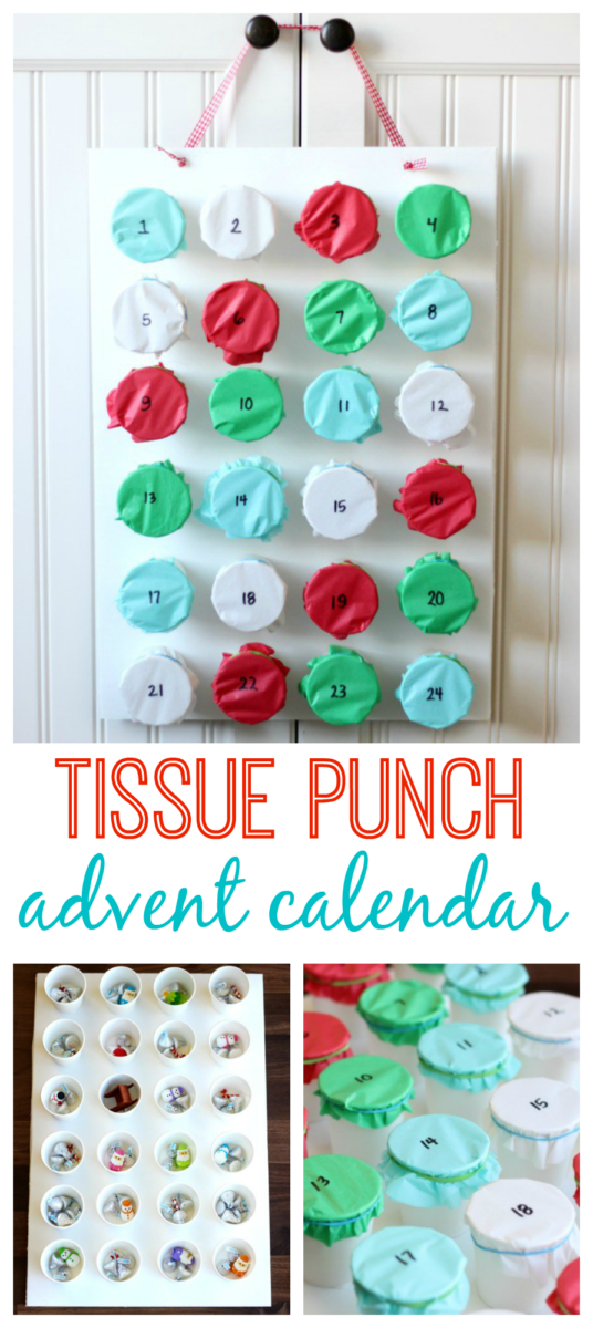 tissue punch advent calendar