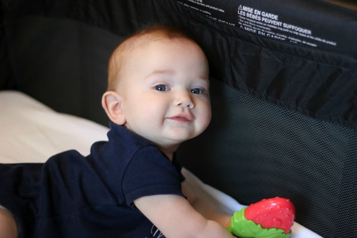 The perfect RV travel nursery for baby! It is compact, easy to fold and store, comes with a diaper station, bassinet insert, and lots of storage! A great optionfor a summeron the road.
