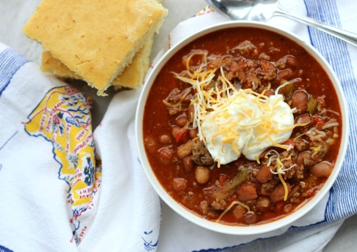 Slow Cooker Turkey Chili Recipe With Sausage Is Flavorful Not Too Spicy