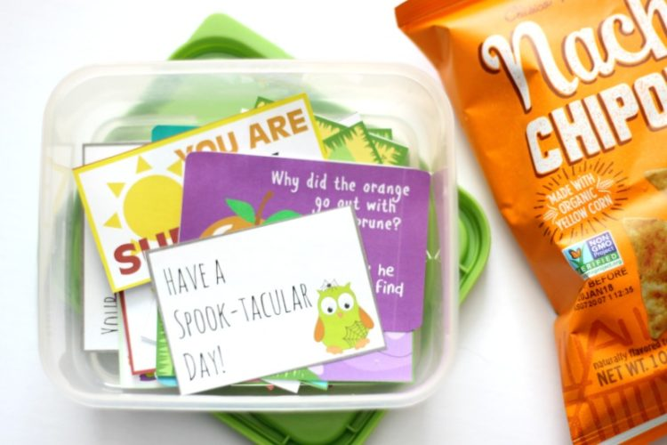 Printable lunch box notes for every season! Print and keep in a drawer to easily tuck inside lunches this school year.
