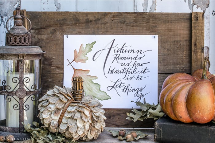 Over a dozen beautiful watercolor printables, ready to add to your fall decor this season. Just print and frame!