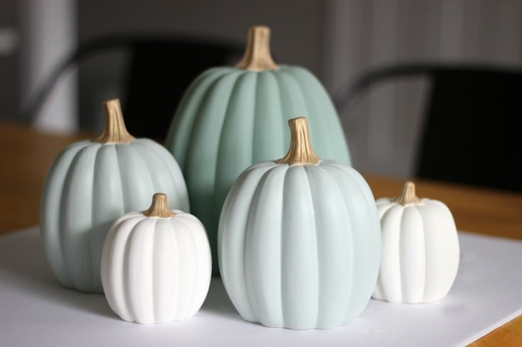 finished painted pumpkins