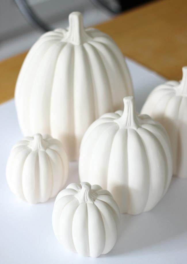 unfinished ceramic pumpkins