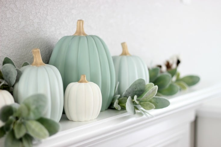 painted pumpkins from Oriental Trading