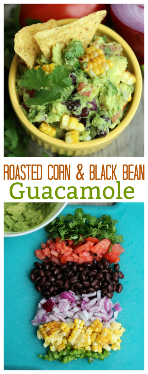 Bold, colorful and flavorful. This roasted corn and bean guacamole recipe hits the spot any day of the week. Perfect to serve with chips, or to add to a southwest rice bowl.