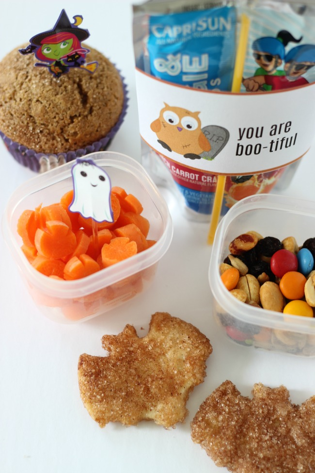 Add some spooky fun to your kids' lunches this year with these printable juice box wraps for Halloween! Just cut, wrap and tape!