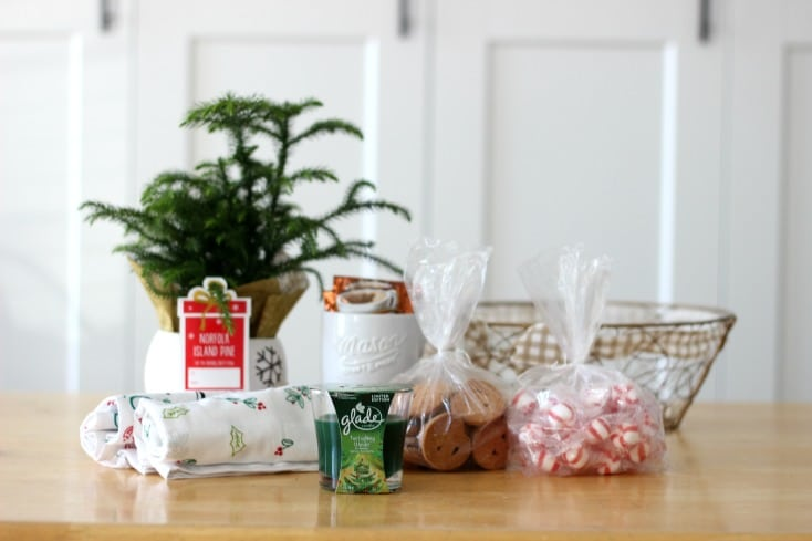 Are you spending the holidays out of town with family this year? Are you going to a dinner party with friends? Bring a holiday gift basket for the hostess to enjoy after the guests have returned home. A gift basket brimming with the scents of the holiday season!