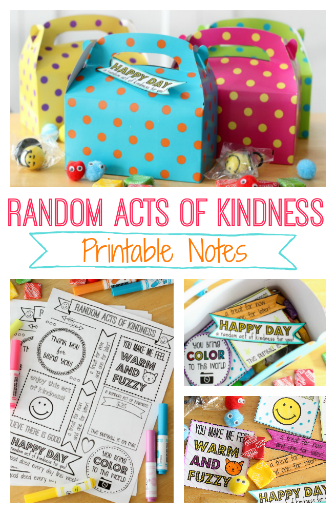 graphic regarding Random Act of Kindness Printable identified as Random Functions of Kindness Package With Free of charge Printable:Brighten