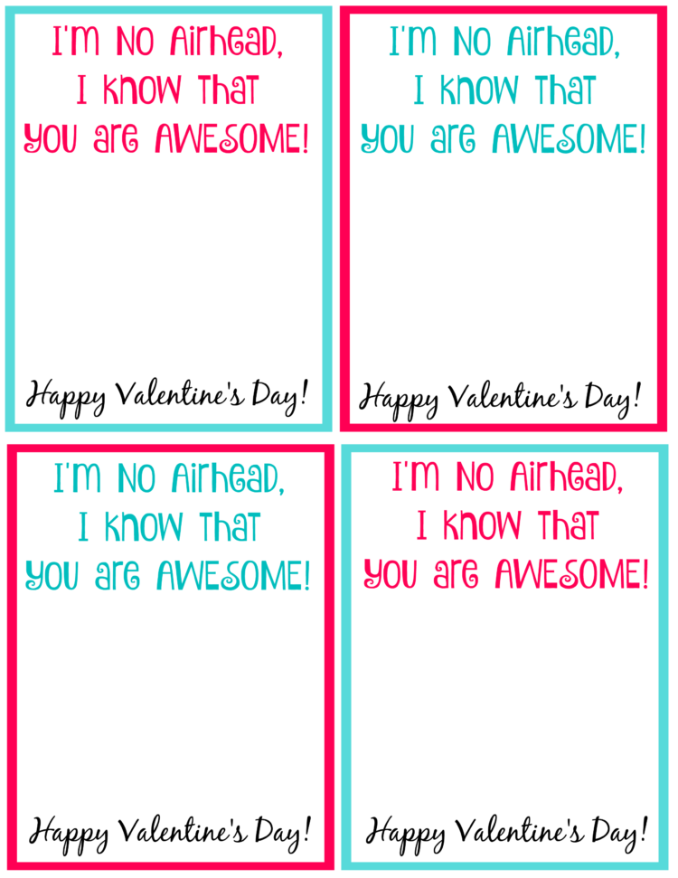printable airhead valentine's day cards