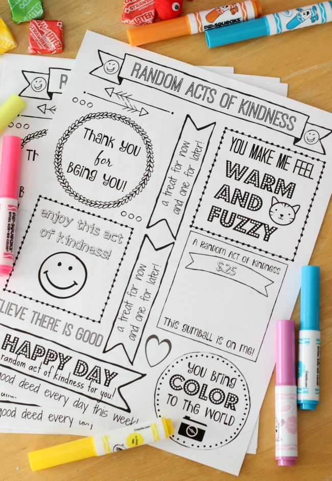 photo about Random Act of Kindness Printable called Random Functions of Kindness Package With Free of charge Printable:Brighten