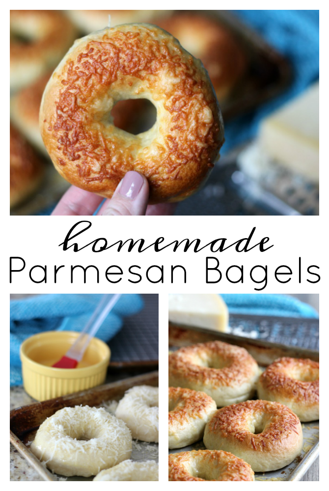 The BEST and EASIEST homemade parmesan bagels. Make delicious bagels at home that rival any from your favorite bagel shop!