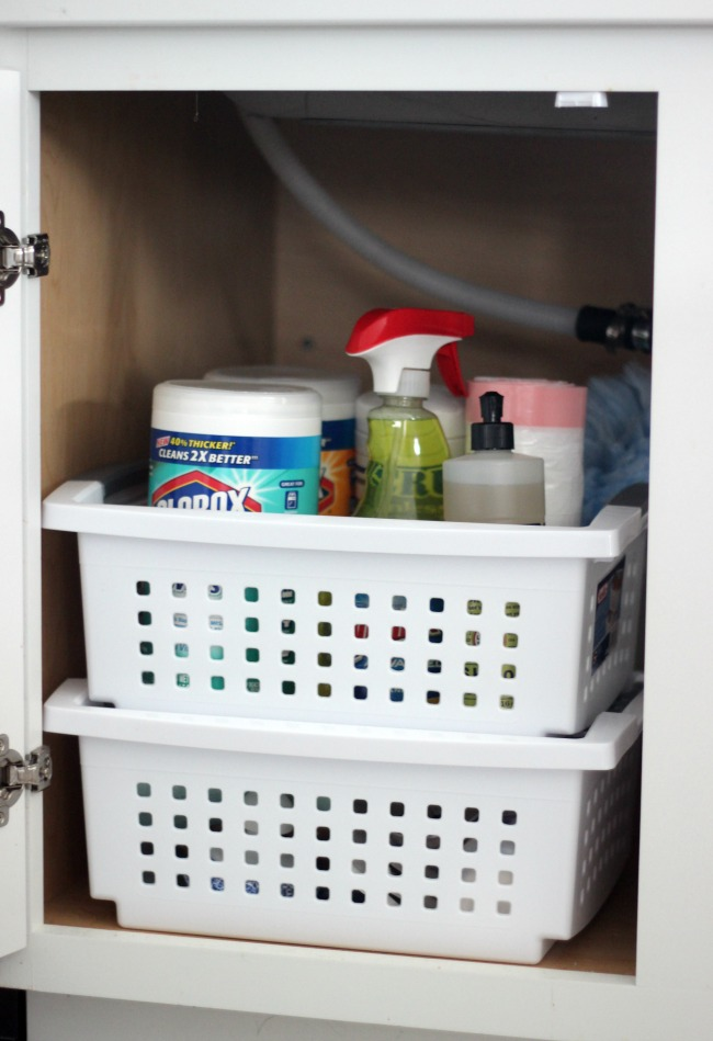 under the sink organization after photo