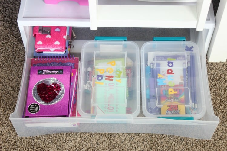 Small spaces can be a challenge to organize. Come see how we've organized this girls room to fit two girls, their clothing, and all of their toys and stuffed animals in one tiny little space!