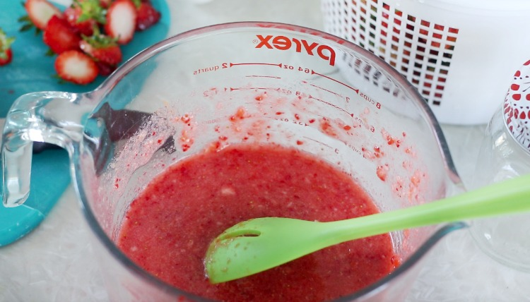 strawberries mixed with sugar and pictin