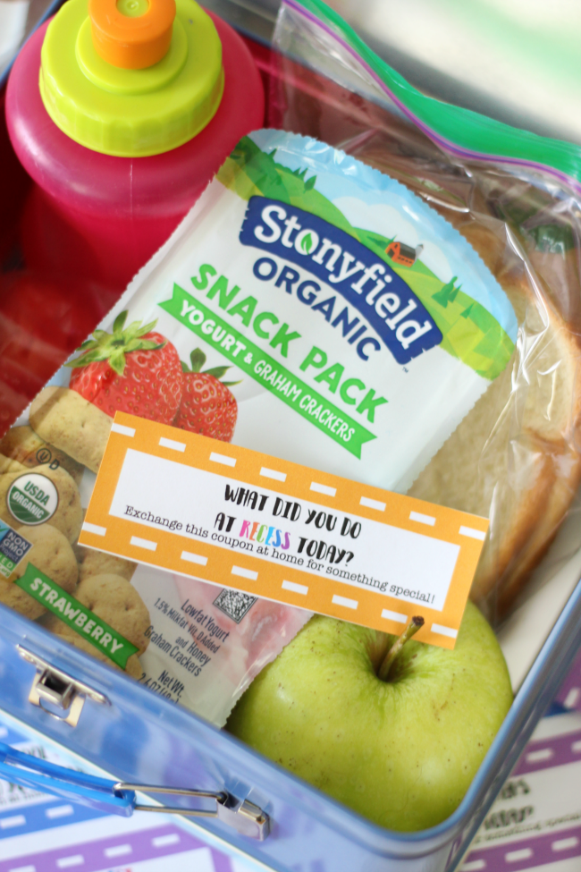 Make lunch time fun with these lunch box coupons! Each contains a thought-provoking question for your child to answer when they get home in exchange for a hug, high five or anything special you want to share with them!
