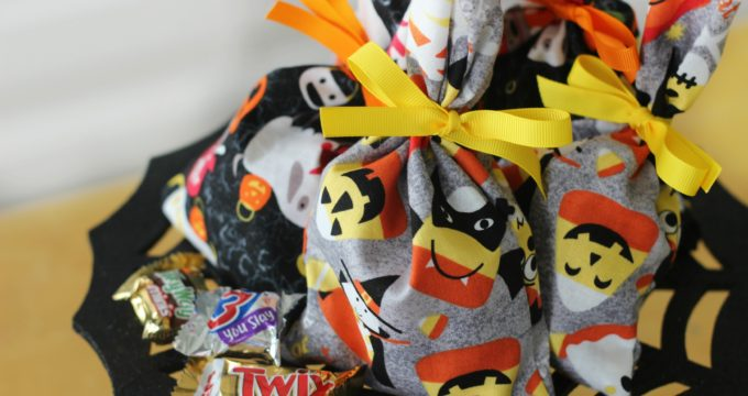 Fabric Treat Bags: Halloween Sewing Tutorial for Kids